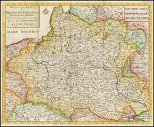 Poland and Ukraine Map By Giambattista Albrizzi