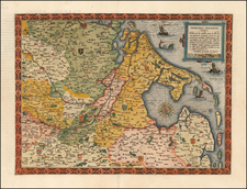 Netherlands, Luxembourg and Germany Map By Cornelis de Jode