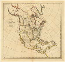 North America Map By Mathew Carey
