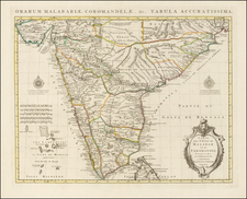 India & Sri Lanka Map By Johannes Covens  &  Pieter Mortier