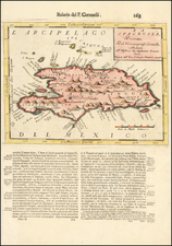 Caribbean and Hispaniola Map By Vincenzo Maria Coronelli