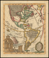 South America and America Map By P. Anselm Desing