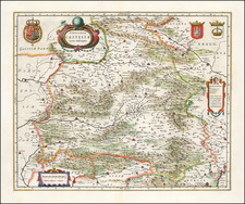 Spain Map By Willem Janszoon Blaeu