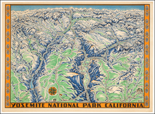 California and Yosemite Map By Schwabacher-Frey Co.