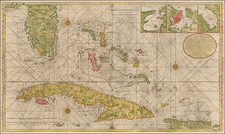 Florida, Southeast, Caribbean and Cuba Map By Gerard Van Keulen