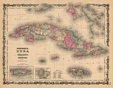 Caribbean Map By Benjamin P Ward  &  Alvin Jewett Johnson