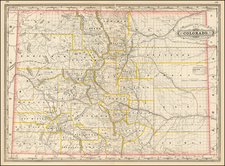 Southwest, Rocky Mountains and Colorado Map By George F. Cram