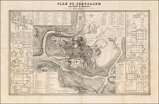 Holy Land and Jerusalem Map By Ermete Pierotti