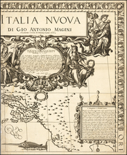 Balkans and Italy Map By Giovanni Antonio Magini