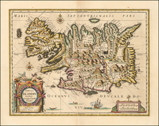 Iceland and Balearic Islands Map By Willem Janszoon Blaeu