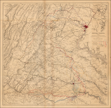 Virginia Map By United States Bureau of Topographical Engineers