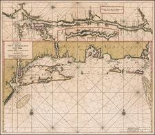 New England, Connecticut, Massachusetts, Rhode Island and New York State Map By Johannes Van Keulen