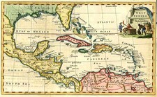 South, Southeast, Caribbean and Central America Map By Thomas Kitchin