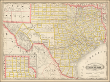Texas and Southwest Map By George F. Cram