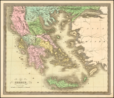 Balkans, Greece, Turkey and Balearic Islands Map By Jeremiah Greenleaf