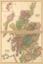 Scotland (Northern Part) [and] Scotland (Southern Part) By John Pinkerton