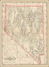 Nevada and California Map By George F. Cram