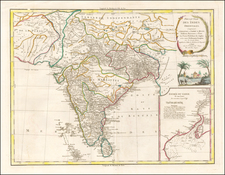 India Map By Charles Francois Delamarche