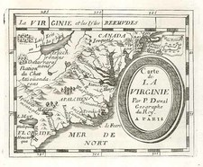 Mid-Atlantic and Southeast Map By Pierre Du Val
