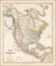 Southwest, Rocky Mountains and North America Map By Heinrich Kiepert