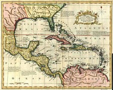 South, Southeast, Texas and Caribbean Map By John Gibson