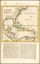 Southeast, Texas and Caribbean Map By Herman Moll