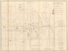 Chicago Map By U.S. Army Corps of Topographical Engineer