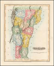 Vermont Map By Fielding Lucas Jr.