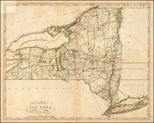 New York State Map By Mathew Carey