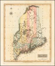 New England Map By Fielding Lucas Jr.
