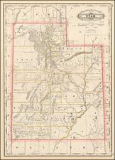 Utah and Utah Map By George F. Cram