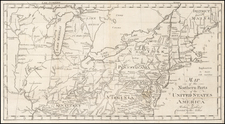 New England, Southeast and Midwest Map By Jedidiah Morse / Abraham Bradley
