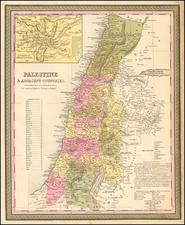 Holy Land Map By Samuel Augustus Mitchell
