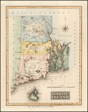 Rhode Island Map By Fielding Lucas Jr.