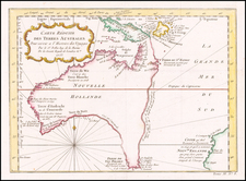 Australia Map By Jacques Nicolas Bellin