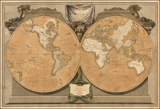 World and World Map By James Whittle  &  Robert Laurie