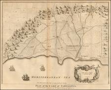 Spain Map By Paul de Rapin de Thoyras