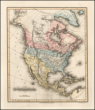 North America Map By Fielding Lucas Jr.