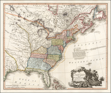 United States and Southeast Map By William Faden