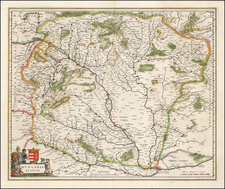 Hungary Map By Willem Janszoon Blaeu / Johannes Blaeu