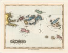 Virgin Islands Map By Fielding Lucas Jr.