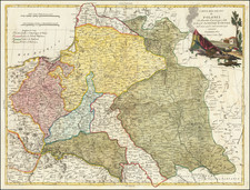 Poland and Ukraine Map By Antonio Zatta