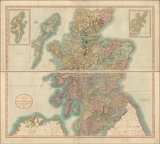 Scotland Map By John Cary