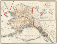 Alaska Map By General Land Office