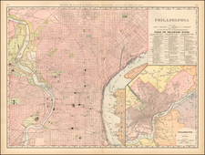 Pennsylvania and Philadelphia Map By William Rand  &  Andrew McNally