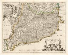 Spain Map By Michel Van Lochem