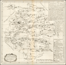 British Counties Map By Henry Beighton