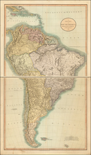 South America Map By John Cary