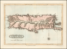 Caribbean and Puerto Rico Map By Fielding Lucas Jr.