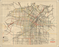 California Map By Los Angeles Traffic Commission
